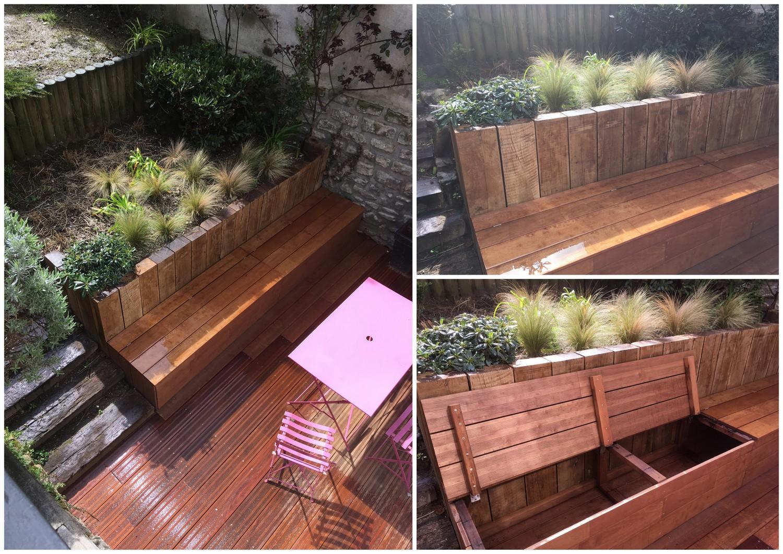Conception et réalisation d'un jardin de 70m² Neuilly sur Seine