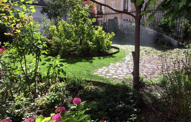 Conception et réalisation d'un jardin de copropriété de 200m² Rue Lacroix, Paris 17